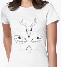 Marauding Skulls Womens Fitted T-Shirt