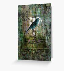 Indoor Garden with Bird Greeting Card