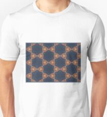 Pattern of blue stone flowers Unisex T-Shirt
