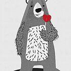 bear with heart lollipop by tonadisseny