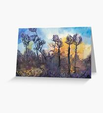 Teasels against the sunrise Greeting Card
