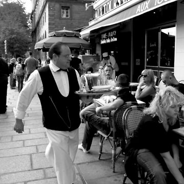 Waiter in Paris by Tibetansky