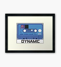 Retro 80s Cassette Tape- Dynamic Framed Print