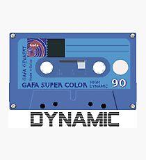 Retro 80s Cassette Tape- Dynamic Photographic Print