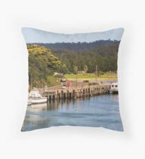 Wagonga Inlet at Narooma Throw Pillow