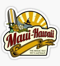 Maui - Hawaii surf sticker Sticker