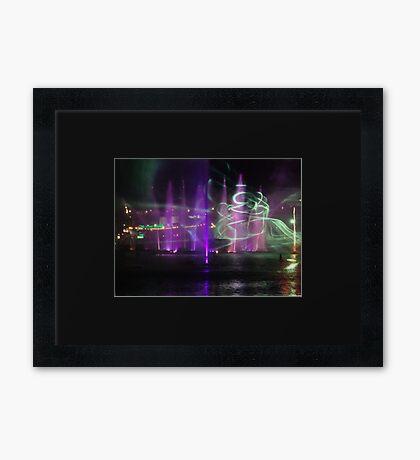 VIVID Darling Harbour Light Display Framed Print