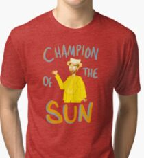 DAYMAN, CHAMPION OF THE SUN Tri-blend T-Shirt