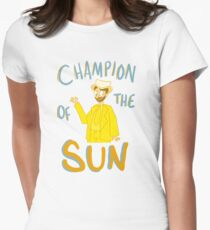 DAYMAN, CHAMPION OF THE SUN Women's Fitted T-Shirt