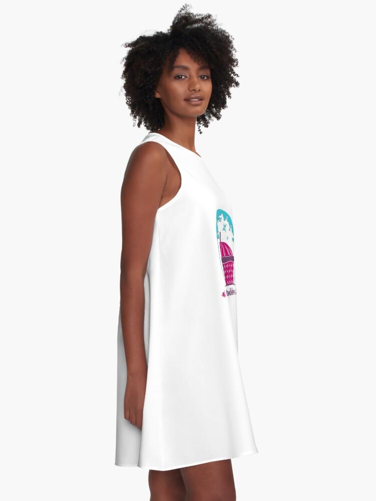 Alternative Ansicht von Glamping Göttin A-Linien Kleid