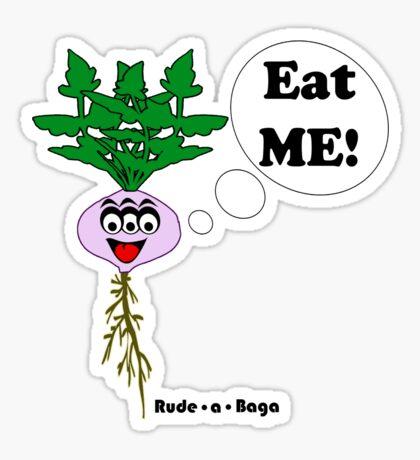 "Rude-a-Baga's ""Eat Me!"" Sticker"