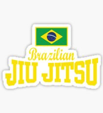Flag Text BJJ - MMA BJJ Apparel Sticker