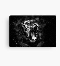 Wild Tiger Portrait Black White Animal Canvas Print