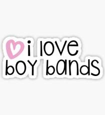 I love boy bands Sticker