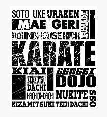 Karate A to Z MMA BJJ Apparel Photographic Print