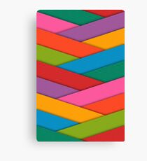 Abstract Colorful Decorative 3D Striped Pattern Canvas Print