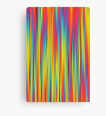 Abstract Colorful Decorative Striped Pattern Canvas Print