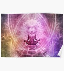 Spiritual Yoga Meditation Zen Colorful Poster