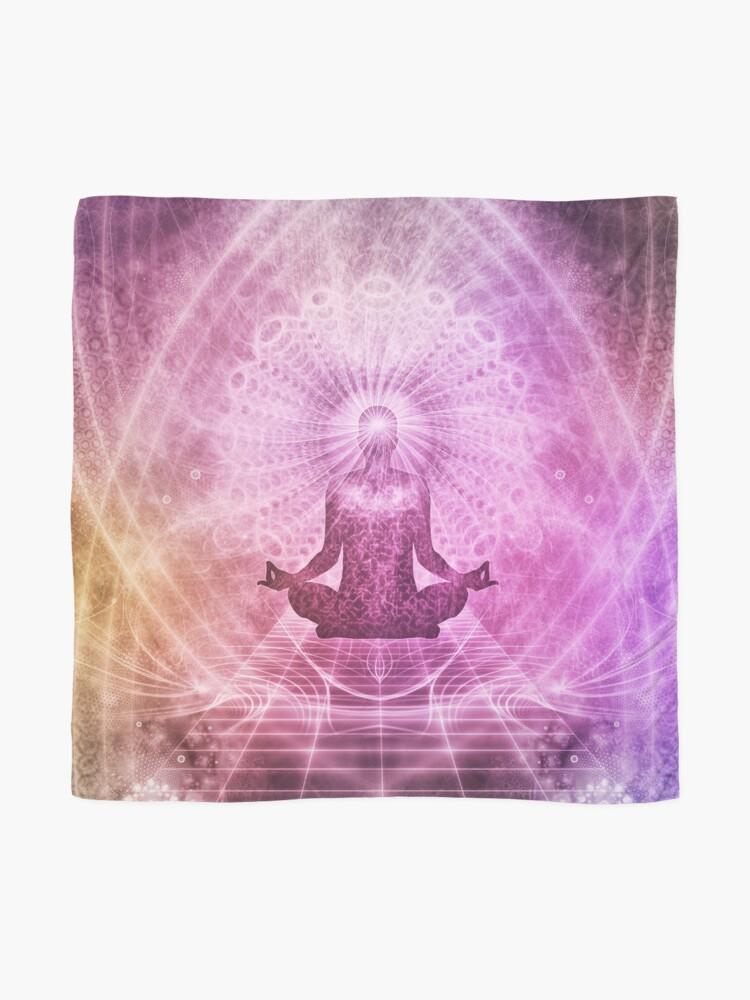 Alternative Ansicht von Geistige Yoga-Meditation Zen Colorful Tuch