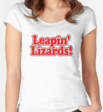 ANNIE - Leapin' Lizards Women's Fitted Scoop T-Shirt