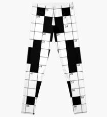 Cool Crossword Pattern Leggings