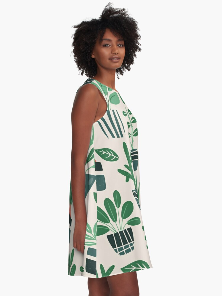 Alternate view of Potted Plants A-Line Dress