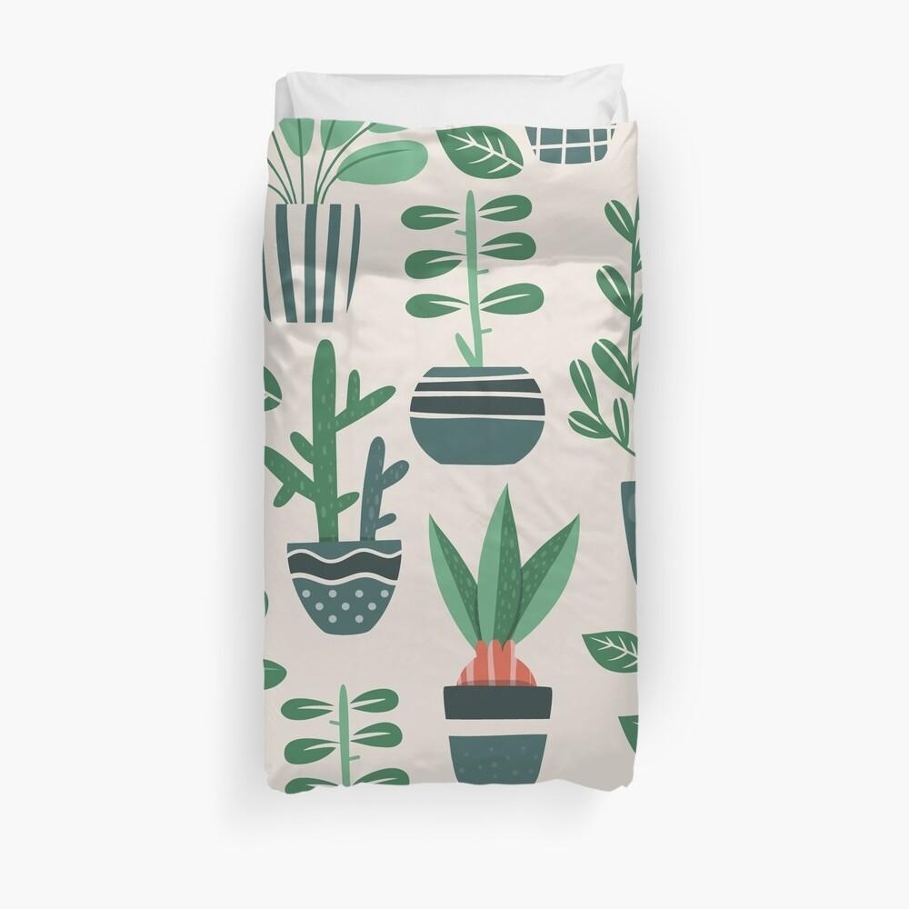 Potted Plants Duvet Cover