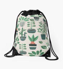 Potted Plants Drawstring Bag