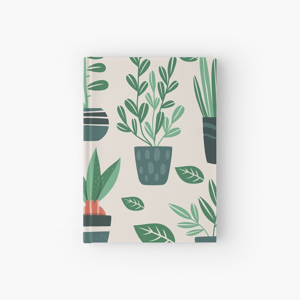 Potted Plants Hardcover Journal