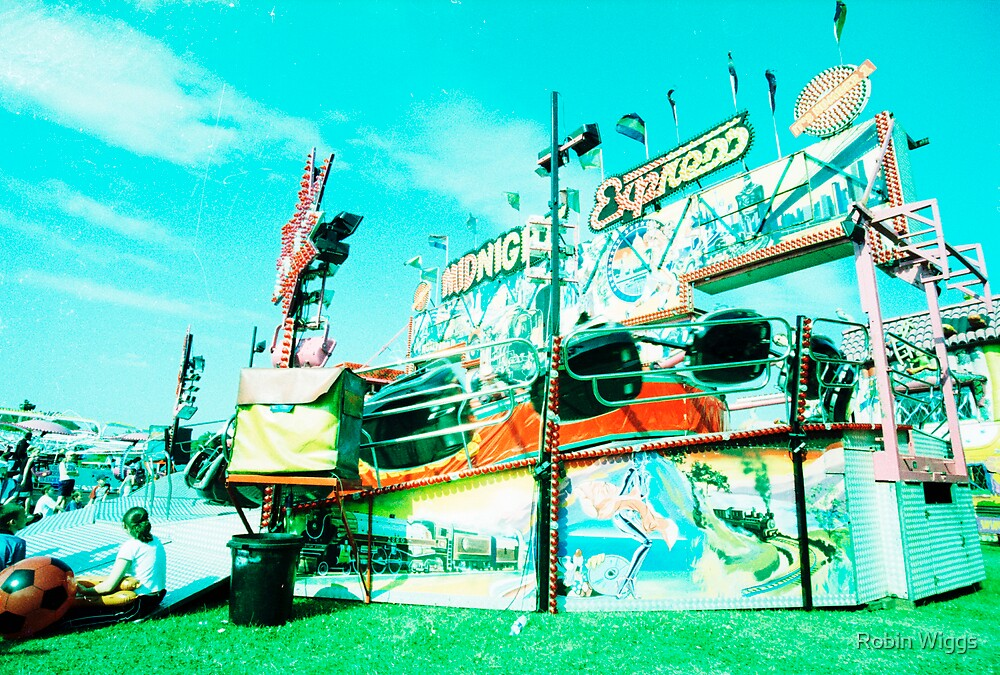 Fairground, bleached by Robin Wiggs