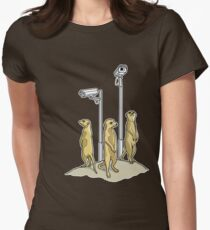 Meerkat CCTV Women's Fitted T-Shirt