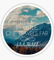 little by little one travels far- j.r.r.tolkien Sticker