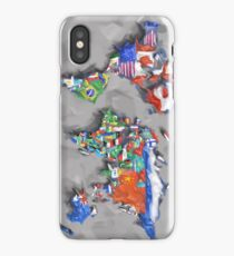 world map flags 3 iPhone Case/Skin