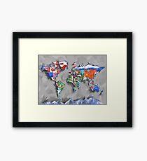 world map flags 3 Framed Print