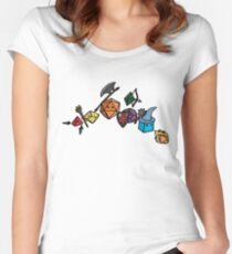 Camiseta entallada de cuello redondo Fiesta de dados - Versión del boceto