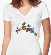 Dice Party - Sketch Version Women's Fitted V-Neck T-Shirt
