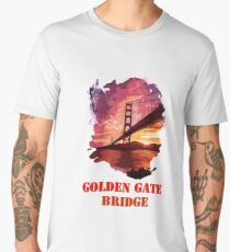 Golden Gate Bridge - San Francisco Men's Premium T-Shirt