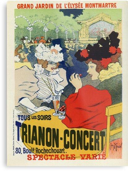 Vintage Paris Garden Trianon Montmartre Concert Ad By Aapshop