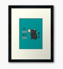 Catty Thoughts! Framed Print