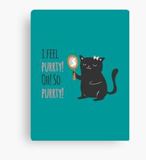 Catty Thoughts! Canvas Print