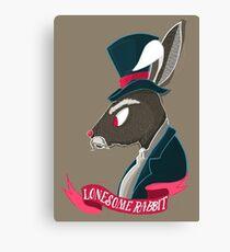 Lonesome Rabbit Canvas Print
