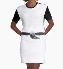 Seagull With Seashell | Hampton Bays, New York [Sophie's Schrott] Graphic T-Shirt Dress
