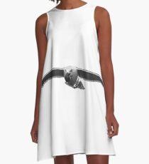 Seagull With Seashell | Hampton Bays, New York [Sophie's Schrott] A-Line Dress