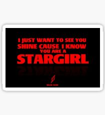 STARGIRL graphic you are a stargirl -the weeknd Sticker