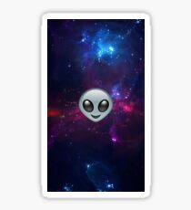 Alien in space Sticker