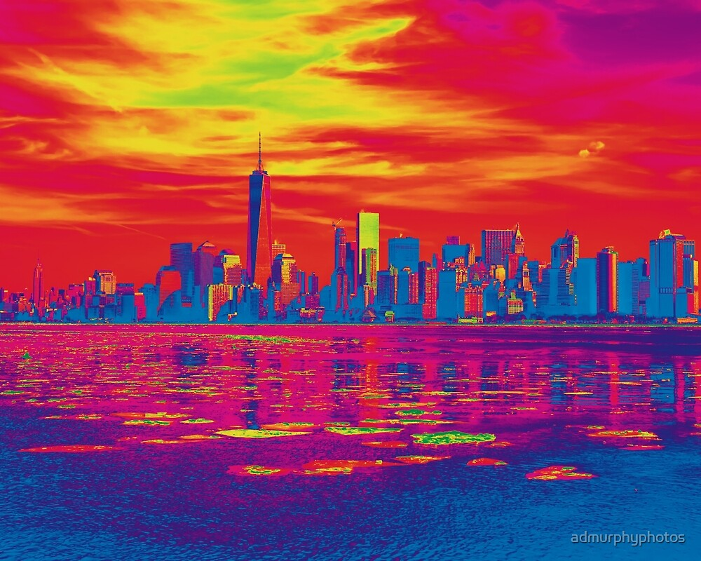 Vivid Skyline of New York City, United States by admurphyphotos