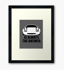 ALWAYS THE ANSWER (WHITE) Framed Print