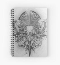 Raven skull Spiral Notebook