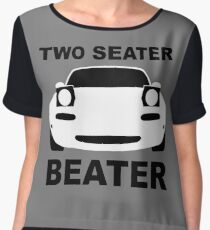 TWO SEATER BEATER (WHITE) Women's Chiffon Top