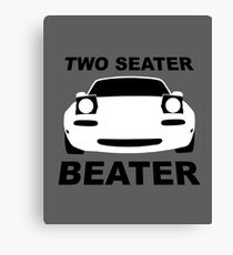 TWO SEATER BEATER (WHITE) Canvas Print